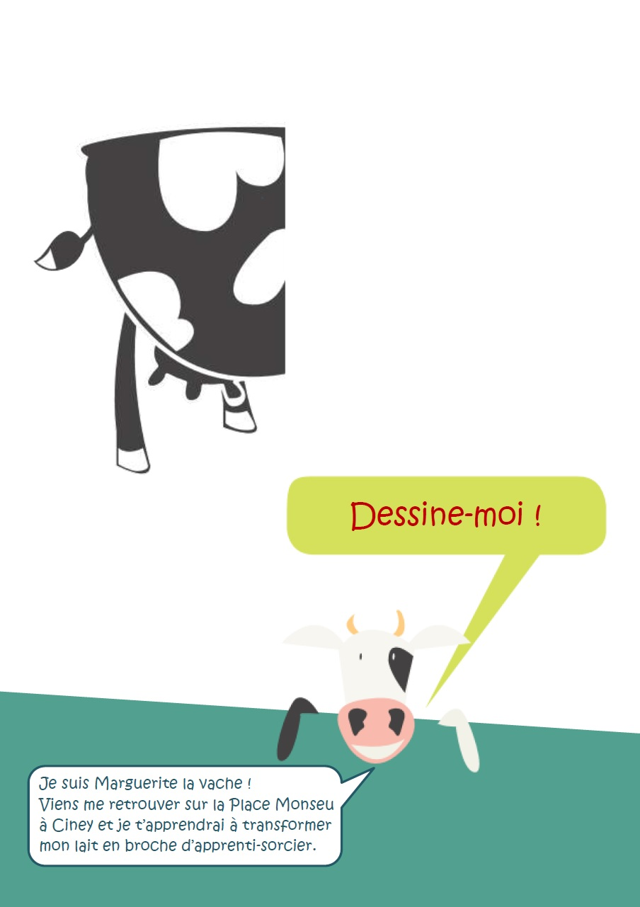 Dessin libre vache