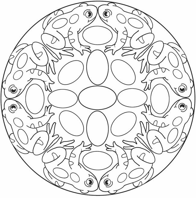 Mandala grenouille